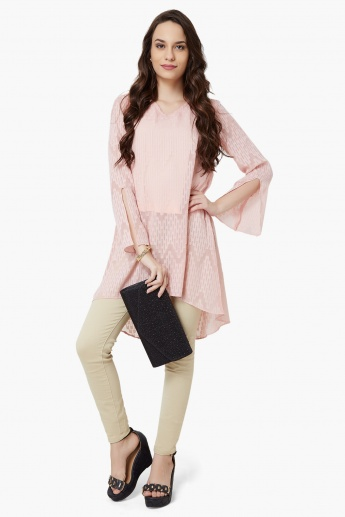 AND Textured High-Low Hem Tunic
