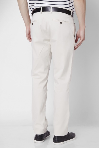 CODE Solid Flat Front Slim Fit Pants