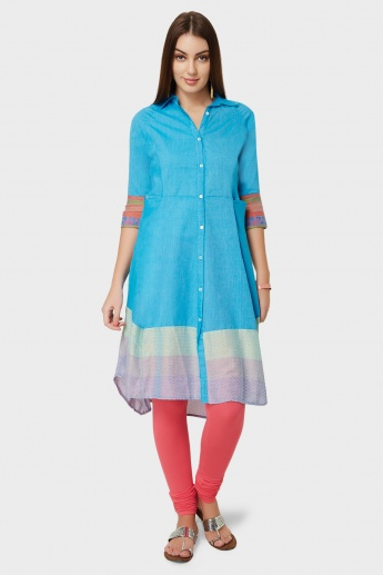 BIBA Button Down Shirt Kurti