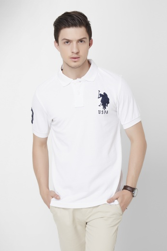 U.S. POLO ASSN. Solid Polo Neck T-Shirt