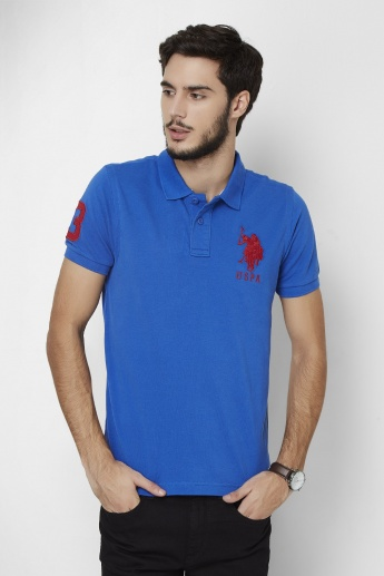 U.S. POLO ASSN. Lagoon Half Sleeves Polo Neck T- Shirt