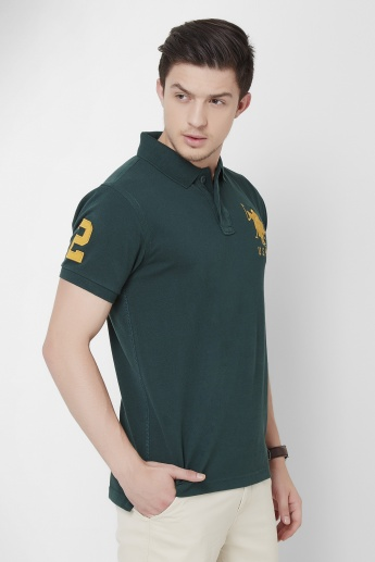 U.S. POLO ASSN. Half Sleeves Polo Neck T-Shirt
