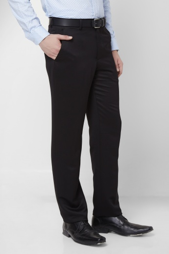 V Dot Flat Front Slim Fit Trousers