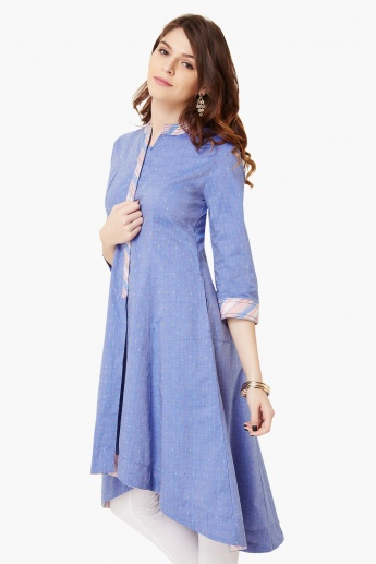 BIBA High-Low Hem Pocketed Kurta